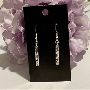 """Believe"" Fashion Dangle Earrings"